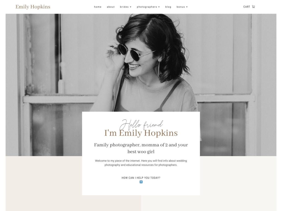 Photographer + Educator Shop Collection screenshot